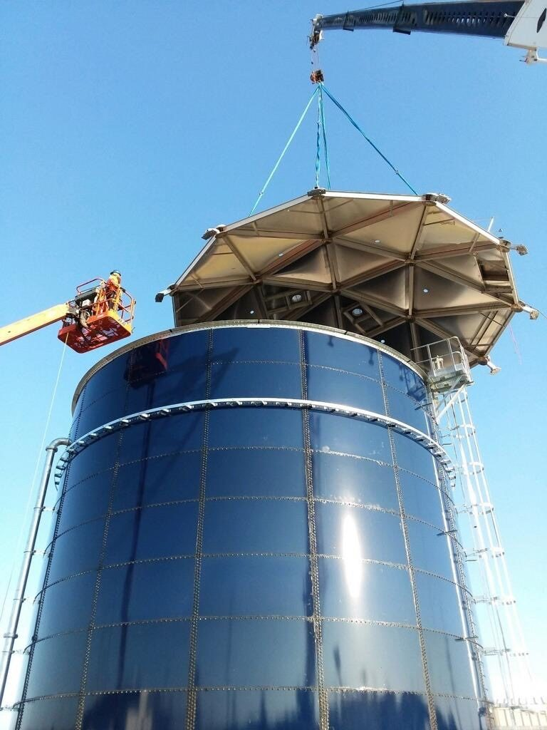 Glass Fused to Steel Bolted Storage Tank at Nuclear Facility in Aiken SC