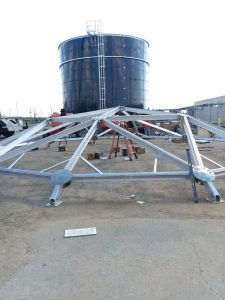 Supports for an Aluminum Geodesic Dome in SC