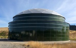 Green Double wall Glass Fused to Steel Tank with Aluminum Dome