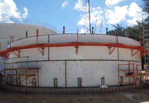 Field Welded Tank being erected in Saipan