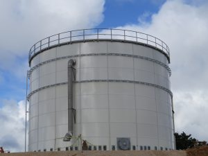 Large white Glass Fused to Steel Bolted Tank