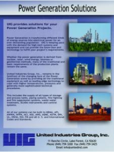 Power Generation Solutions Flyer