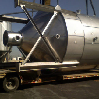 Stainless Steel Shop Fabricated Milk SIlo