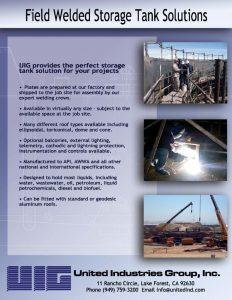 Advertising Flyer of workers welding steel tanks