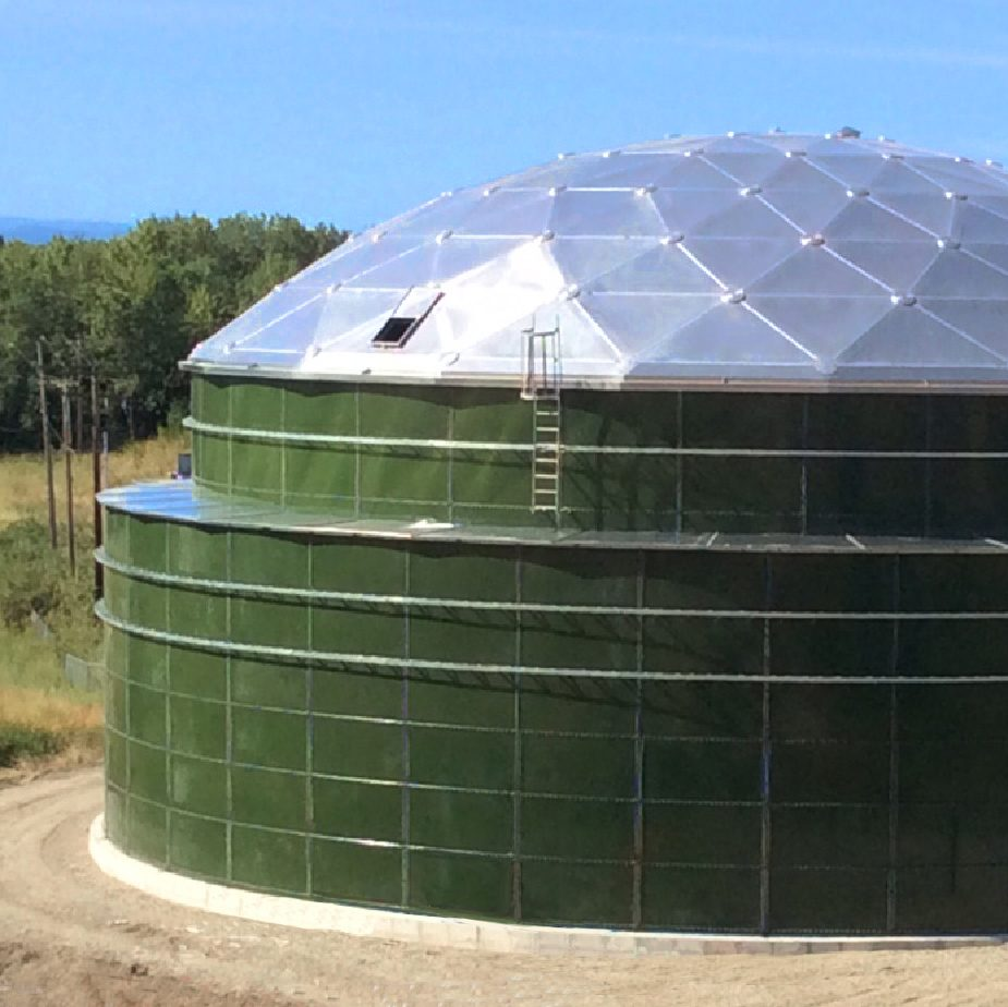 Green Double wall Bolted Tank with Aluminum Dome