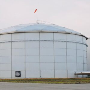 White Bolted Water Tank for processing plant in Arkansas