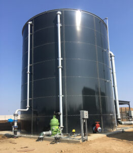 7 ring, dark gray, bolted water tank